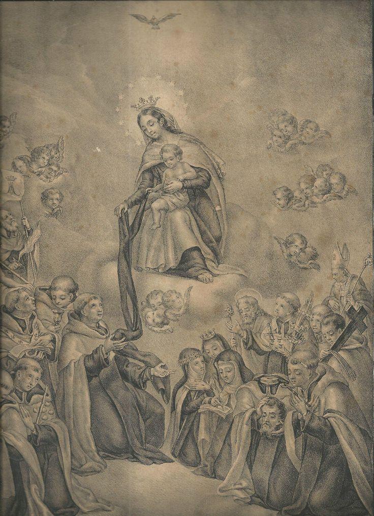 "ordocarmelitarum: "" Our Lady of Mt. Carmel with All Carmelites Saints """