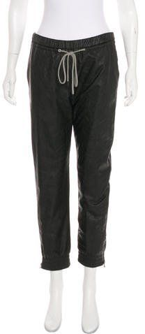 L'Agence High-Rise Faux Leather Jogger Pants