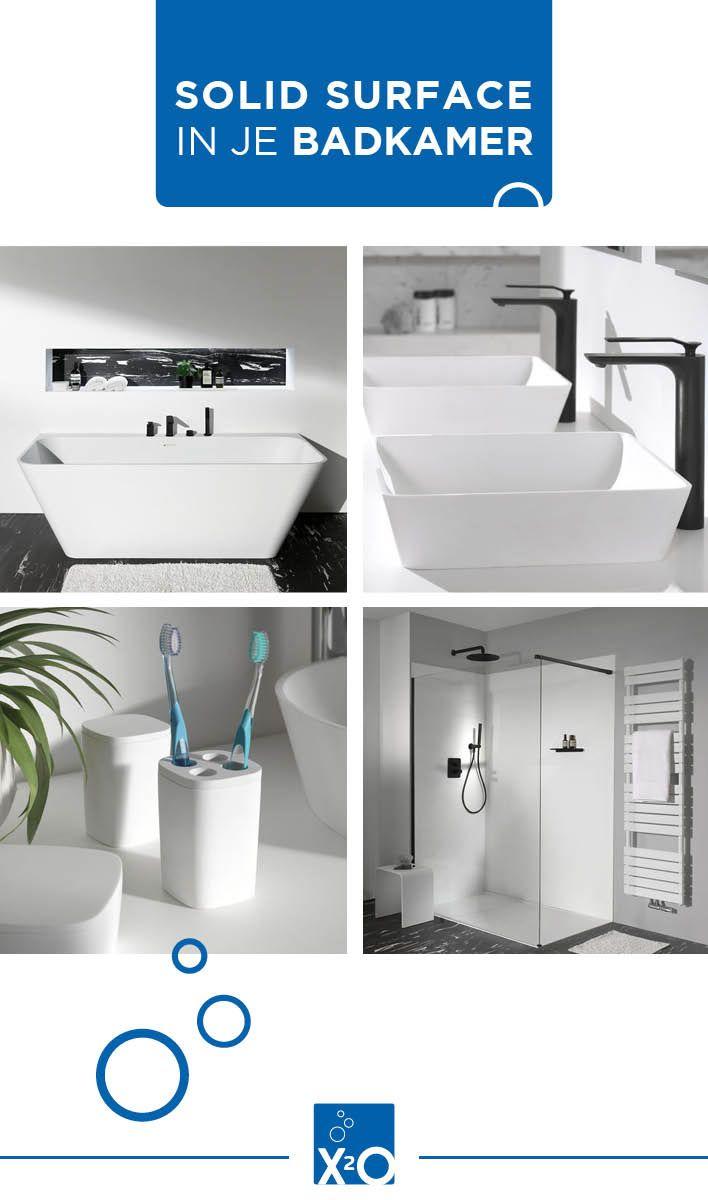 Al Gehoord Van Solid Surface Dit Innovatieve Materiaal Is Buitengewoon Duurzaam En Bestand Tegen Vocht Ideaal V Badkamer Badkamer Modern Badkamer Accessoires