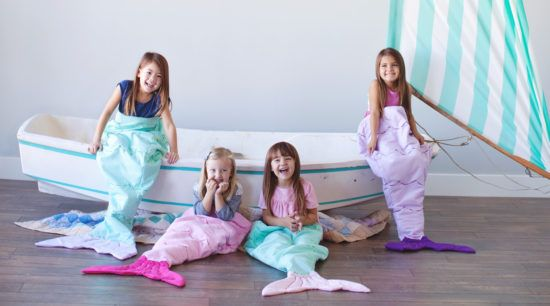 Mermaid Tail Blankets Your little one will love to snuggle up in this Fleece Mermaid Tail Blanket.