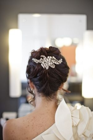 perfect hair accessory for a bridal updo! // photo by BaylyMoore.com