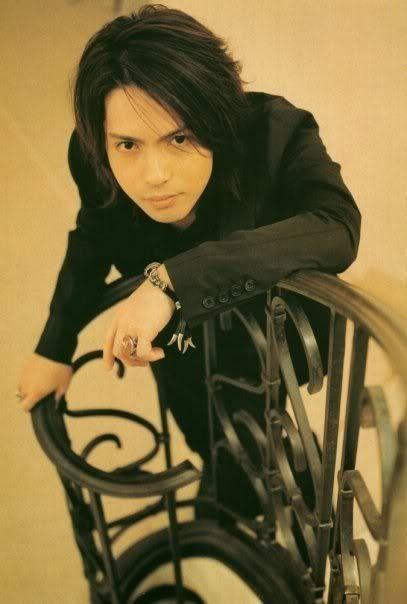 Hyde. Like Chiaki Kuriyama is the most gorgeous woman in Japan, so is Hyde the most gorgeous man in Japan... And I love, love, love L'Arc~En~Ciel!!