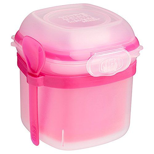Nude Food Mover Yogurt / Yoghurt Mover Lunch Pot Container with Freezer Block Insert & Spoon - (200ml) Pink Nude Food Mover http://www.amazon.co.uk/dp/B01B6RYCUY/ref=cm_sw_r_pi_dp_hpLWwb117M1EQ