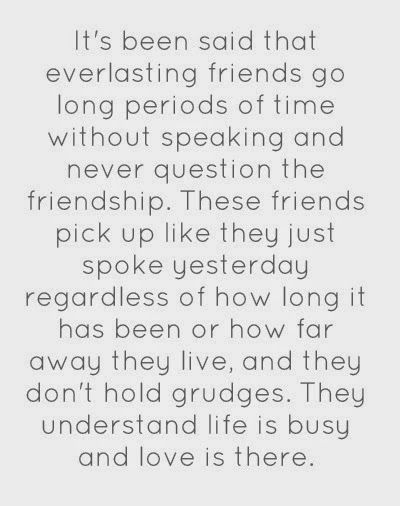So gratefully to have friends like this. Loyal to the end, no matter the time or distance, for good times and sad.