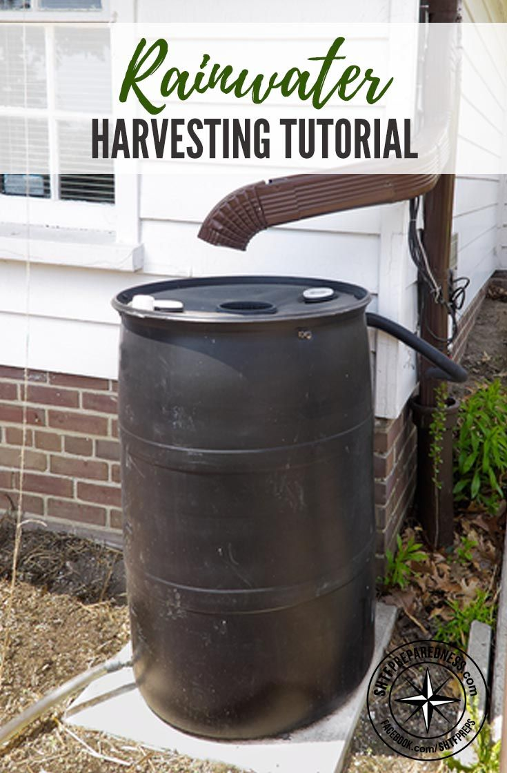 Rainwater Harvesting Tutorial — This tutorial shows us how we can build a water retention system with just a few materials. It's a pretty simple setup that can be customized according to how much rainfall you normally get in your area and the amount your gutters can collect.