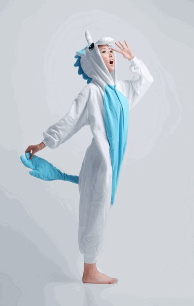 A mythical and legendary creature that has a very magical and powerful reputation. A beautiful creature that spreads color to whatever it may pass along.  You can now glow and spark just like the beautiful unicorn with a set of your own blue unicorn anime kigurumi. You can fly with your friends wearing this awesome and wonderful kigurumi. Satisfy your beauty sleeps with this kigurumi as your own pajamas and you will surely glow like a beautiful unicorn. #onesie #cosplay #unicorn