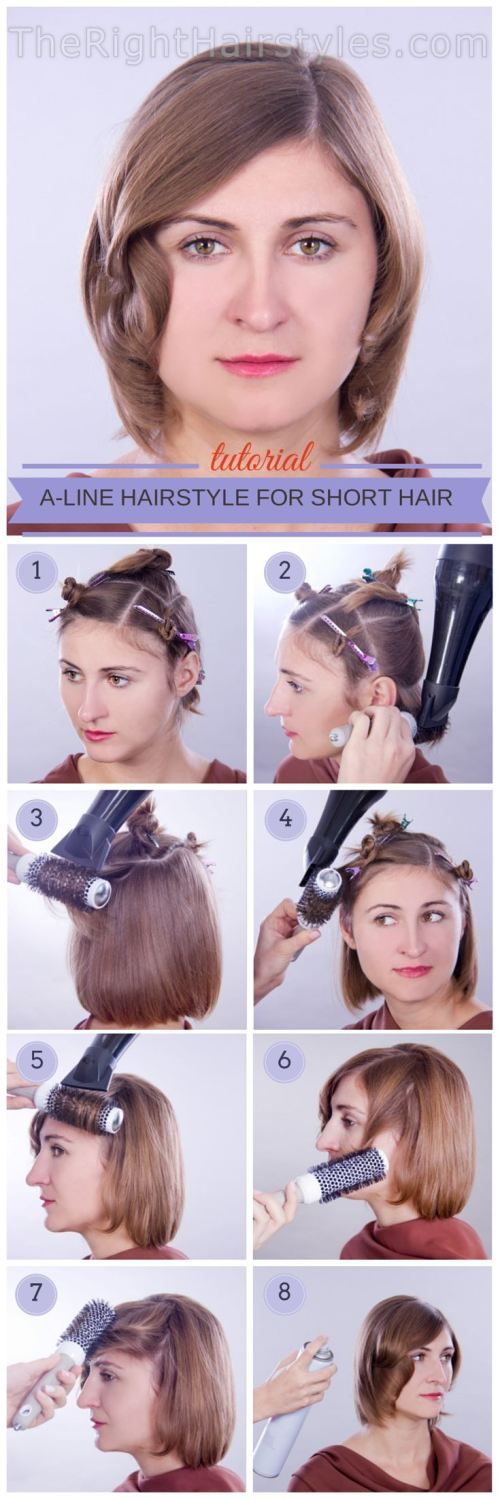 How To: A-Line Hairstyle for Short Thin Hair
