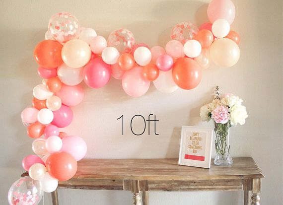 Valentine/'s Balloon Garland CHOOSE Your Colors DIY Balloon Garland Table Decor Wedding Table Decor Custom Mini Balloon Garland Kit
