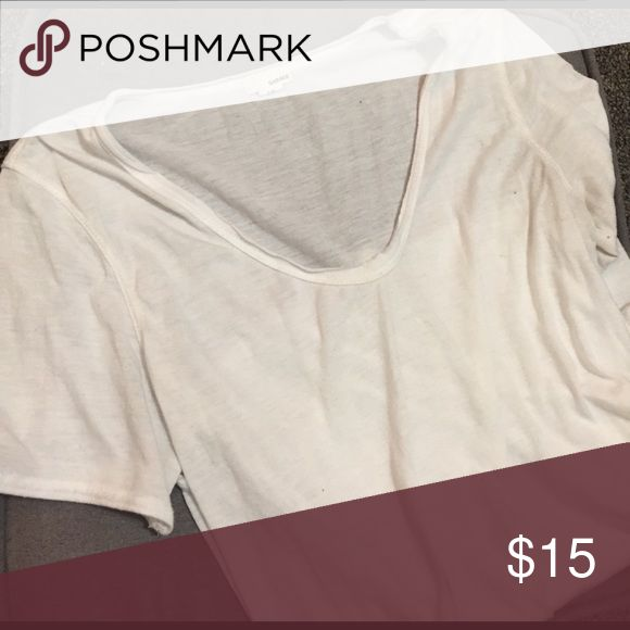 Plain white t Simple, plain white comfy shirt. Light and easy to wear under other clothes Garage Tops Tees - Short Sleeve