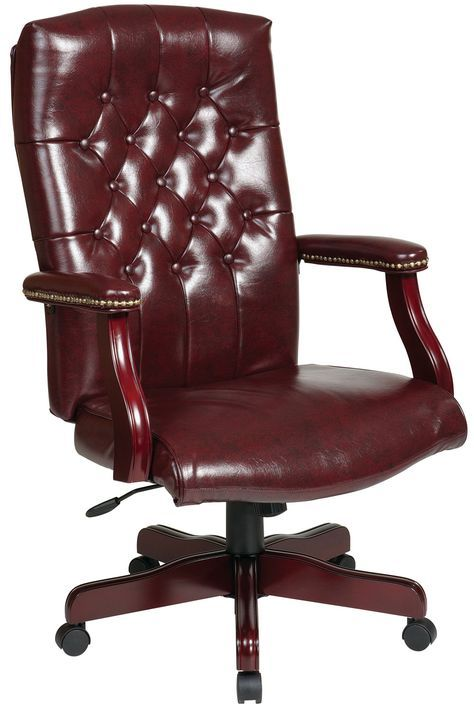 Traditional office chairs | -JT4 Office Star - Traditional Jamestown Vinyl Executive Office Chair ...