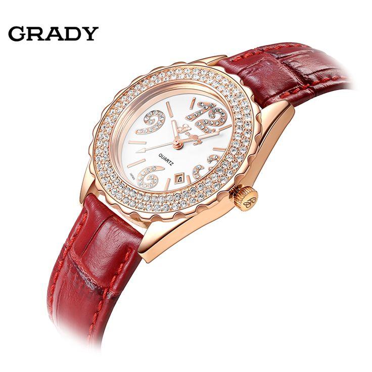 Grady Fashion Women Rhinestone casual Watch Women Watches WristWatches Free Shipping