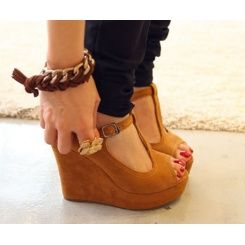 : Baby Girls Shoes, Sandals Wedges, Brown Wedges, Fish Wedges, Tans Wedges, Cheap Shoes, Summer Wedges, Wedges Mouths, Mouths Sandals