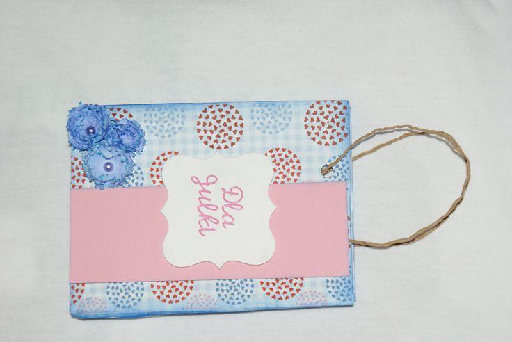 Scrapbooking purse gift-torebka na prezent.