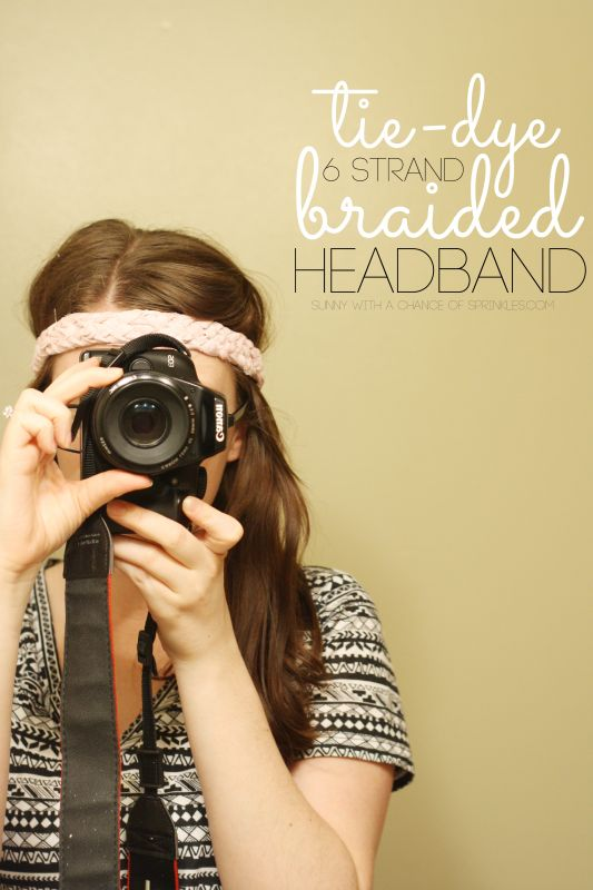 Tie-Dyed 6 Strand Braided Headband DIY