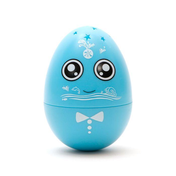 ECUBEE Mano Spinner Azul Huevo Fidget Gadget Gyro Roly-poli De Música De Juguete Estrella LED