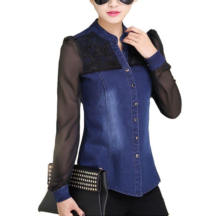 2016 Fashion Accessories Moschino Women's | Womens Tops Fashion 2016 Korean Style Women Denim Shirt Top Body Jeans ...