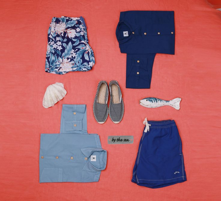 Tropical Style #bythesea #espradilles #swimtrunks #catchoftheday #trends #men