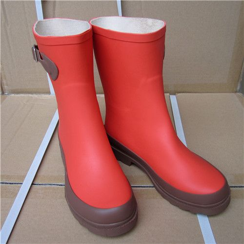 >> Click to Buy << The new girls wellies rain boots in tube lady fashion rubber rainboots overshoes mid calf rain boots #Affiliate