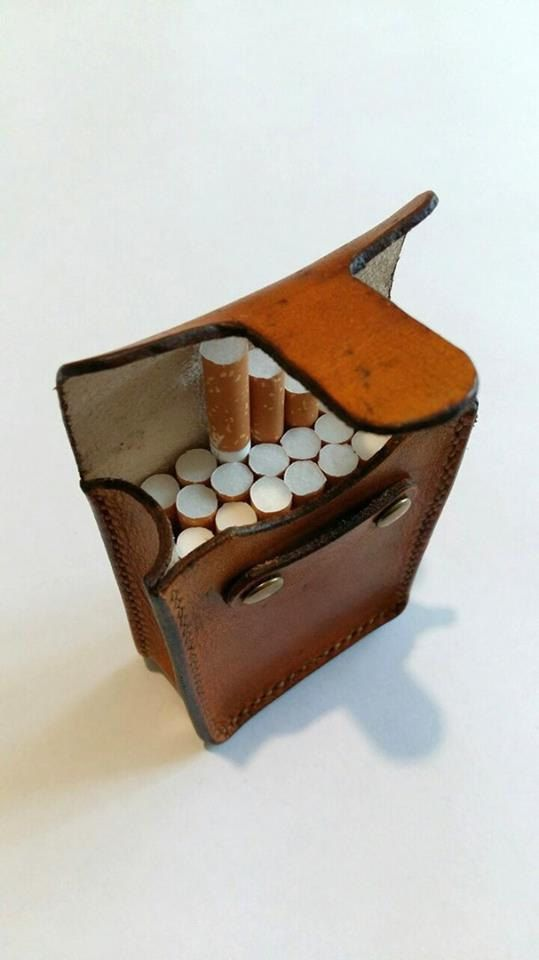 leather cigarette case Сigarette holder   Gifts for smokers