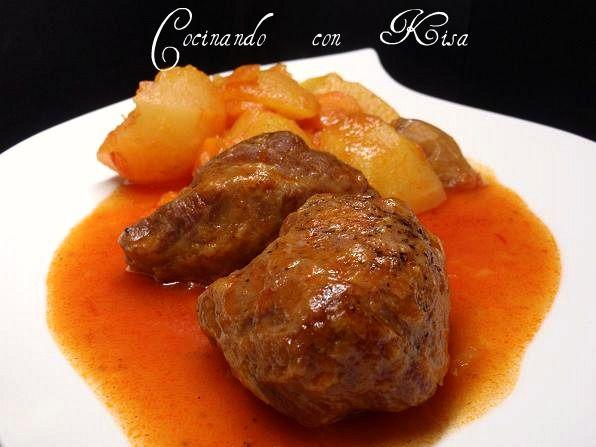 Cheek in sauce with potatoes - carrilleras en salsa con patatas (fussioncook) - Cocinando con Kisa