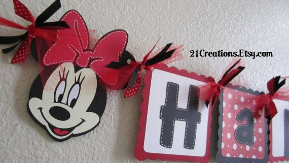 """Happy Birthday banner - pull off something like this for Brysons 1st... use cricut? i have the """"Chuck"""" piecese to either go in middle or on each end :)"""