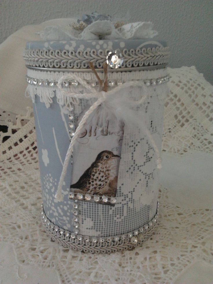 Altered tin box <3  Lace & Pearls Creations*