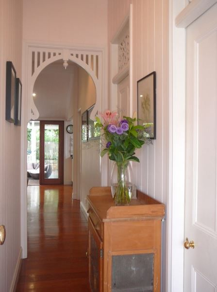Hallway with fretwork