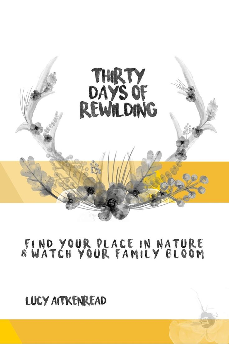 Love this little rewilding book it is full of ideas for nature lovers and families who need a little more nature loving. in their lives. lets all reconnect and celebrate nature.