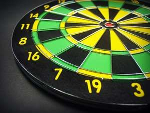black, board, center, close up, dart, dartboard, darts, fun, game, goal, leisure, luck, numbers, play, point, recreation, risk, round, target
