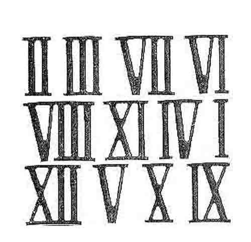 参考になるローマ数字のデザイン
