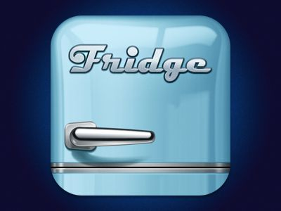 Dribbble - Fridge iPhone logo/icon by SoftFacade