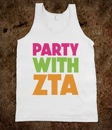 Zeta Tau Alpha Frat Tanks CLICK HERE to purchase :) Buy one or 100! sorority shirts!