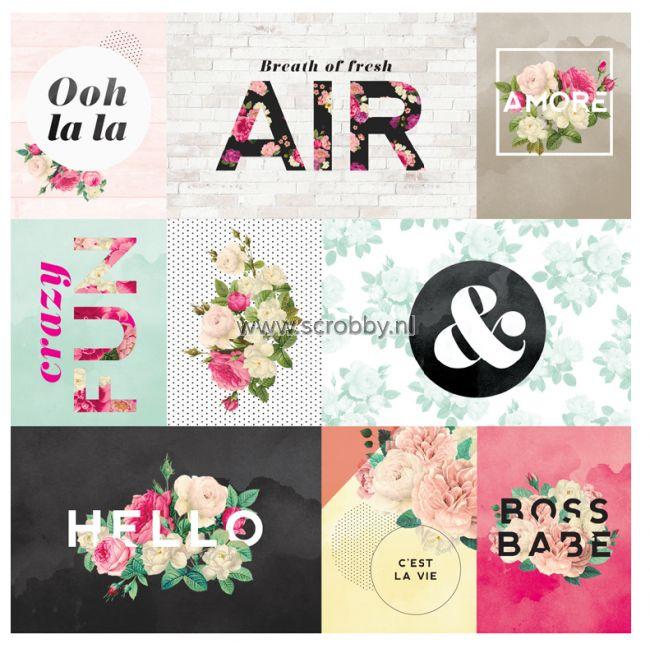 Pink Paislee C'est La Vie Specialty Paper Printed Acetate