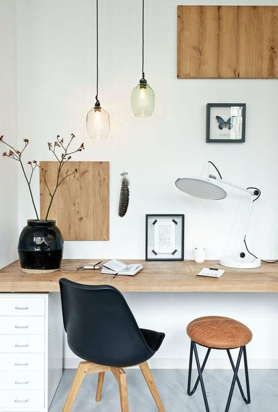 77 Gorgeous Examples of Scandinavian Interior Design Monochrome-Scandinavian-office