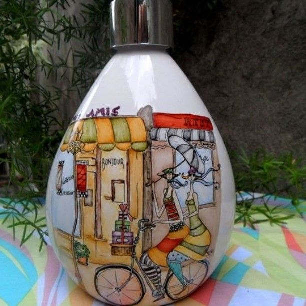 Dispenser #jabónliquido #dosificadorjabonliquido #pintadoamano# decoration #deco #hand painted #hanmade #objetospintadoamano