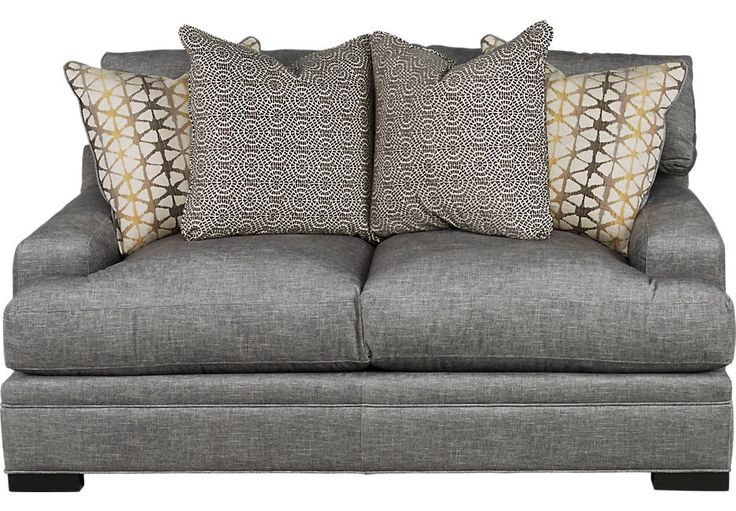 picture of Cindy Crawford Home Palm Springs Gray Apartment Sofa from  Furniture