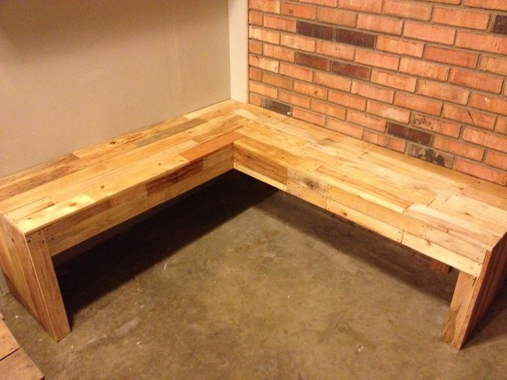 Corner Bench Made From Pallets Completed Projects