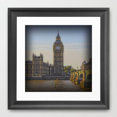 Big Ben Framed Art Print by AngelEowyn - $34.00