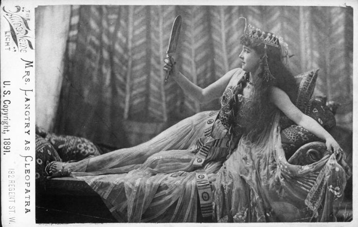 Lillie Langtry (1853-1929) as Cleopatra, 1891. Some scholars believe that Langtry inspired the character of Irene Adler, the actress who outwitted Sherlock Holmes in the Conan Doyle short story, 'A Scandal in Bohemia'.