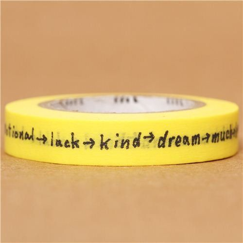 OMG I found this decorative tape with positive words. I could never imagine that…