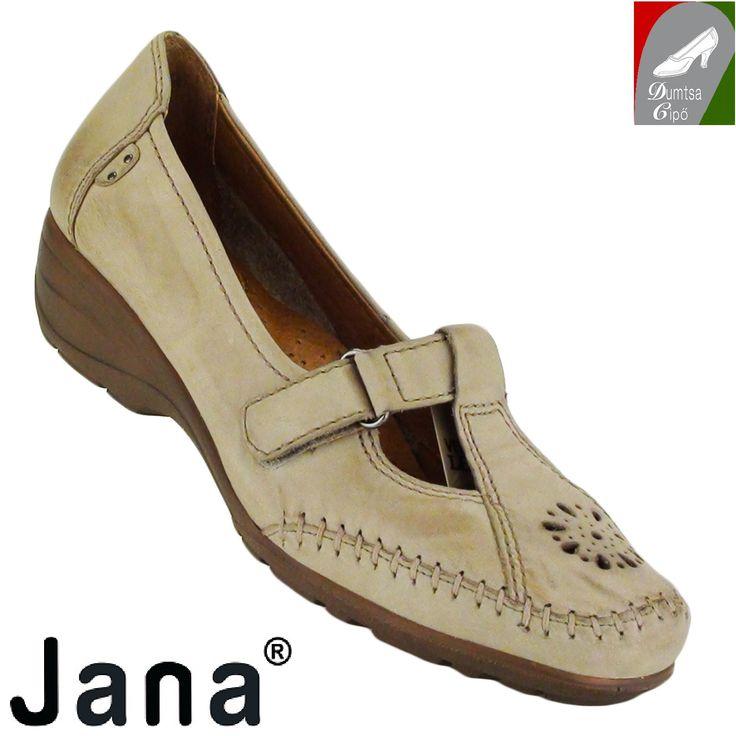 """Cikkszám: 8-24606-24 324 pepper  Csinos, kényelmes tavaszi/nyári női bőr cipő ,  pepper színben a Jana kollekciójából. A bőr talpbélés kivehető. A nyers bőr cserzésénél/festésénél  kizárólag növényi eredetű anyagokat használtak. A modell tépőzárral záródik, valamint """"H"""" szélességű, azaz szélesebb lábfejre ajánlott.  anyaga:  felsőrész: bőr  belsőrész: bőr  talp: szintetikus  sarokmagasság: 4 cm  szín: pepper  Ár: 20 990 Ft"""