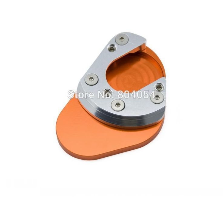 Silver/Orange Side Stand Plate Large Extension Pad For KTM 1190 Adventure (X - 2013)