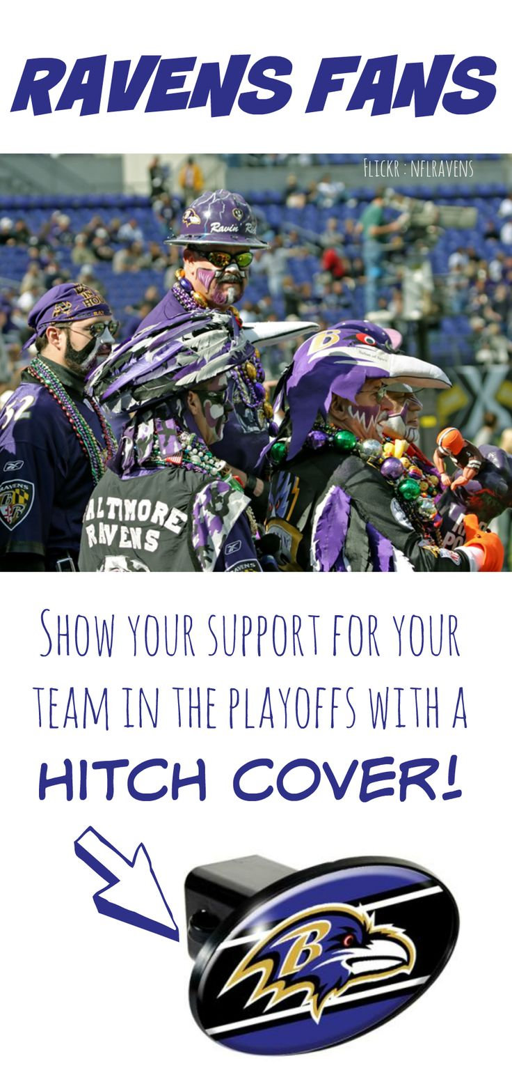 Show your support for the #Ravens during playoff season with this hitch cover | Trailer Hitches & Accessories