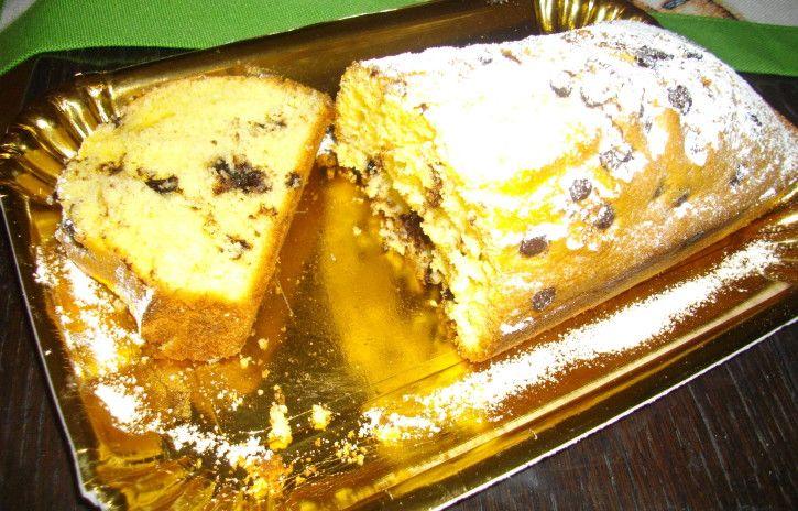 Plumcake all'arancia con gocce di cioccolato - www.cucinandomania.it