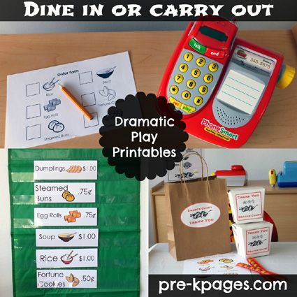 Chinese Restaurant Dramatic Play Printables via www.pre-kpages.com