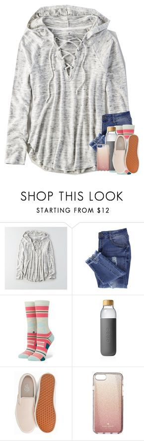 """""""wow i literally have 131 drafts oh my"""" by classyandsassyabby ❤ liked on Polyvore featuring American Eagle Outfitters, Essie, Stance, Soma, Vans and Kate Spade"""