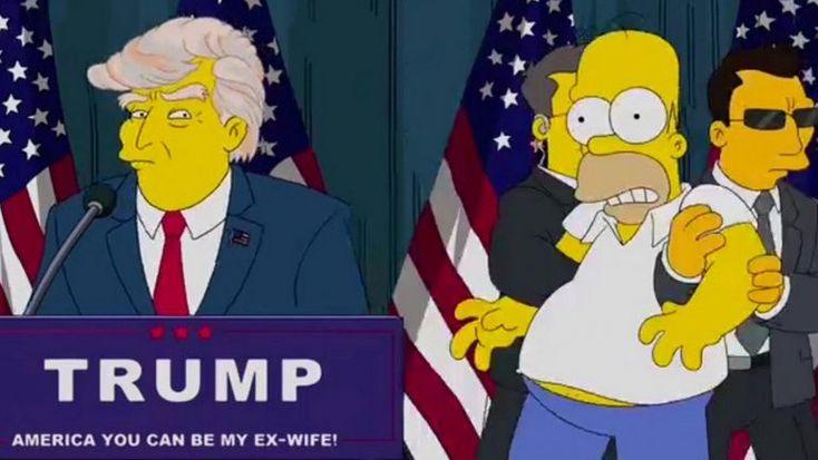 Estamos en quiebra! Los Simpsons predijeron presidencia de Donald Trump
