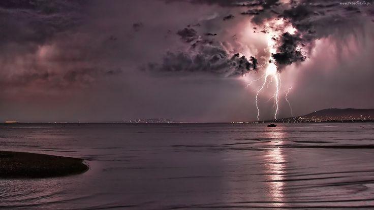Morze, Burza, Pioruny