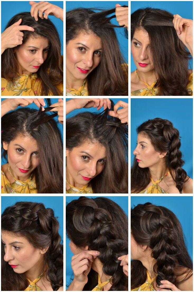 Cute And Easy Hairstyle Dutch Braid Wedding Festive Hair 3 New