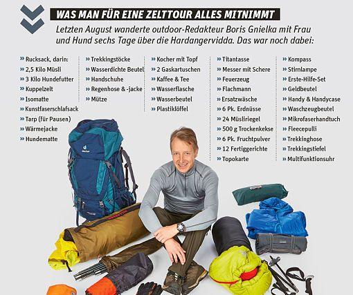 Unsere Ausrüstungstipps für eine Trekkingtour mit Zelt ➤ Funktionelle Wanderbekleidung ➤ Testsieger, Kauftipps & mehr